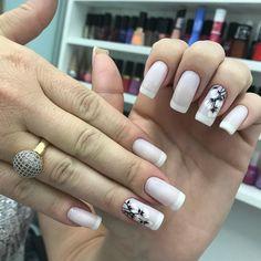 Acrylic Nail Designs, Acrylic Nails, Black And Nude Nails, Nail Drawing, Manicure E Pedicure, Face Skin Care, Nail Polish Colors, Nail Art, Instagram