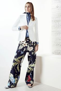 These trousers...with an Old Navy tank top. Gucci Resort 2015 Fashion Show