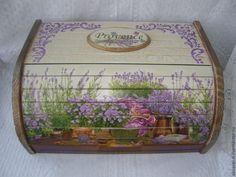 "Купить Хлебница ""Provence"" - бежевый, хлебница, хлебница из дерева, хлебница декупаж, для хлеба, хлеб"