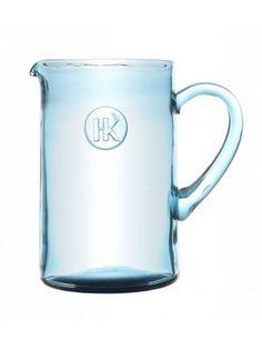 HK-living waterkan GESPOT IN MAMA april, - jug blauw 1.5L smoke blue #tableware