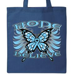 Inktastic ARDS Butterfly Tote Bag by HDD White
