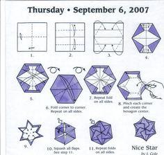 Nice star Origami Box, Origami Stars, Origami Paper, Diy Paper, Paper Art, Paper Crafts, Origami Lights, Origami Diagrams, Paper Quilt