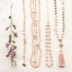A few of our favorite things Gemstone Jewelry, Beaded Jewelry, Tassel Necklace, Peach Necklace, Chan Luu, Jewelery, Gemstones, Favorite Things, My Style