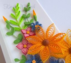 ArtLife: Photoframe for a Friend Paper Quilling Cards, Paper Quilling Designs, Quilling Patterns, Quilling Art, Quilling Ideas, Quilling Flowers, Paper Flowers, Paper Art, Paper Crafts