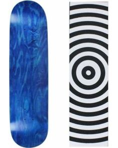 93559bb43848 Skateboard Deck Pro 7-Ply Canadian Maple STAINED BLUE With Griptape 7.5