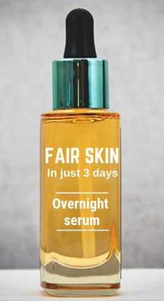 Get fair skin in just 3 days with this skin lightening night serum Natural Hair Mask, Natural Skin, Natural Beauty, Organic Beauty, Skin Tips, Skin Care Tips, Beauty Care, Beauty Skin, Beauty Hacks