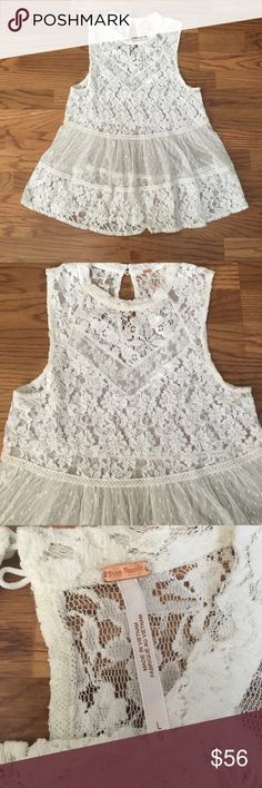 ❤️FLASH SaLE❤️ Free people flirty lace tank Perfect for summer Free People Tops