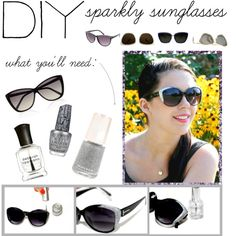 """""""DIY: Sparkly Sunglasses"""" by polyvore-editorial on Polyvore"""