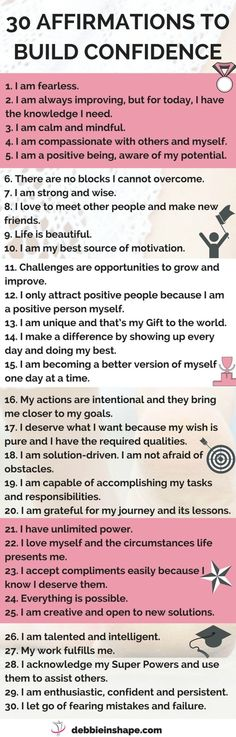 Success Motivation Work Quotes : 30 affirmations to help you overcome fearing mistakes get unstuck and become mo Positive Thoughts, Positive Quotes, Motivational Quotes, Inspirational Quotes, Gratitude Quotes, Happiness Quotes, Affirmation Quotes, Confidence Building, How To Build Confidence