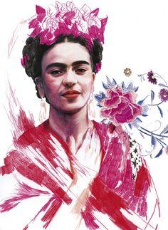 Frida-inspired art.