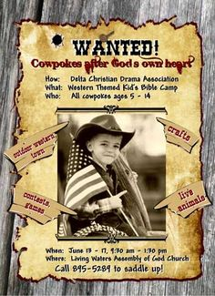 Wanted Sign VBS