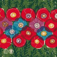 #kichihan #pattern #design #illust #japan #GraphicDesign #poppy #original #flower #drawing #JapaneseStyle #monyou #art #吉斑 #きちはん #グラフィック #文様 #花文様 #花 #ポピー #ケシ #図案 #パターン #デザイン #手描き #オリジナル文様 #花柄 #紋様