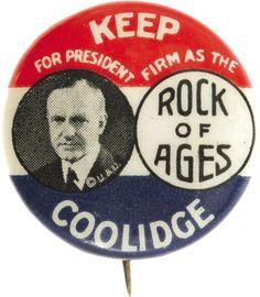 Calvin Coolidge button, 1924