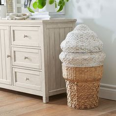 Dirty clothes deserve some love, too. Keep them in a sweet spot with this Ice Cream Cone Hamper. Its clever design is versatile and adds a touch of whimsy to a room. Source by ideas room Bedroom Hamper, Kids Hamper, Cream Nursery, Barn Bedrooms, Cream Room, Pottery Barn Teen, Pottery Barn Playroom, Pottery Barn Furniture, Pottery Barn Inspired