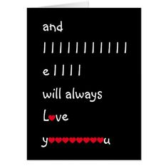 "Sweet, #funny, lyrical, rhyming, custom, giant jumbo size card to say ""I Love You"", that you may personalize with your own message / note / greeting inside. A card to say ""I love you"" in rhythm, on birthday, anniversary, christmas, holidays, valentine's day, and more."
