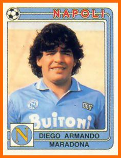 Figurita para el álbum #vintage #futbol #maradona #diego