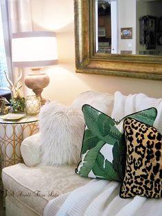 banana leaf print bedroom - Google Search