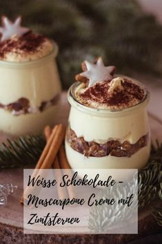 Himmlisch leckeres Weihnachtsdessert – Weiße Schokolade-Mascarpone Creme mit … Heavenly delicious Christmas dessert – white chocolate mascarpone cream with cinnamon stars Easy Cookie Recipes, Easy Desserts, Sweet Recipes, Cake Recipes, Dessert Recipes, Bon Dessert, Creme Dessert, Chocolate Cake Recipe Easy, Cake Chocolat