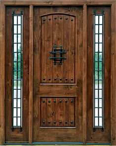 Exterior, : Innovative Rustic Door For Exterior Entryway With Solid ...