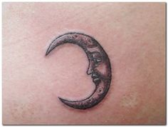 man in the moon tattoo - Google Search