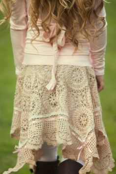 Dollcake Clothing - Out And About Crochet Skirt (Fully Lined)
