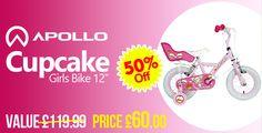 "Apollo Cupcake Girls Bike - 12"" http://www.dealsontoys.co.uk/apollo-cupcake-girls-bike-12-detail"