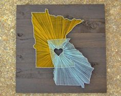 Two State String Art from The Wood Palette