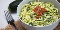 Cestoviny so slaninou a cuketou - Receptik.sk Fusilli, Linguine, Nutella, Spaghetti, Cooking, Ethnic Recipes, Food, Fitness, Red Peppers