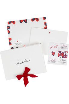 Compose your correspondence in fabulous style with Lanvin's 'Airmail' writing set. Containing heart-print cards, envelopes and faux stamps, they're sure to make an elegant impression.