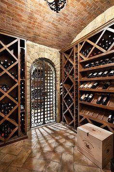 Traditional Wine Cellar Photos Design, Pictures, Remodel, Decor and Ideas - page 23 Wine Glass Rack, Wine Rack, Tasting Room, Wine Tasting, Billard Bar, Caves, Wine Cellar Basement, Home Wine Cellars, English Manor Houses