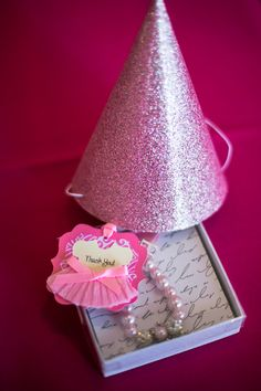 Ballerina party favors the box as packaginging....script with a ballet quote?
