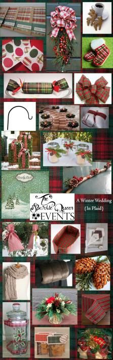 A Christmas Wedding {In Plaid} Wedding Inspiration Board (with links)