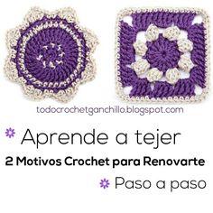 Aprende a tejer 2 motivos crochet para renovarte / Paso a paso | Todo crochet