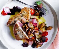 The sweet and sour flavours in this Sicilian eggplant recipe make for a light meal perfectly suited to summer evenings. Caponata pairs very well with tuna, but consider making a double batch, to have spread on toast or tossed through pasta. Fig Recipes, Easy Fish Recipes, Tuna Recipes, Apple Recipes, Healthy Recipes, Sicilian Eggplant Recipe, Sicilian Recipes, Eggplant Dishes, Eggplant Recipes
