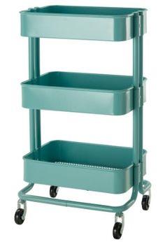 Amazon IKEA RASKOG キッチンワゴン, ターコイズ10216537 キッチンワゴン オンライン通販