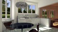 American villa, virtual image, rendered with DomuS3D® and mental ray