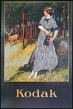 "Poster. 27 x 39"" with Kodak Girl."