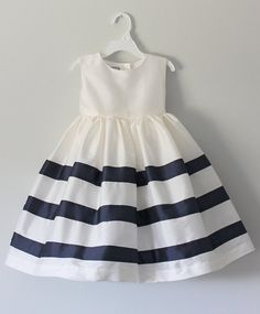 The Nautical Dress: Handmade flower girl dress tulle dress wedding dress communion dress bridesmaid dress tutu dress Party Fashion, Fashion Kids, Little Girl Dresses, Flower Girl Dresses, Baby Girl Dress Patterns, Nautical Dress, Tulle Dress, Pretty Dresses, Kids Outfits