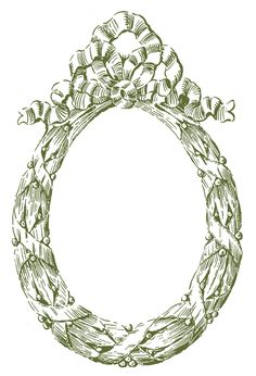 *The Graphics Fairy LLC*: Vintage Graphic Frame - Oval Christmas Wreath