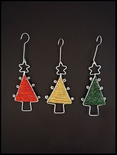 wire beaded ornament   Bead & Wire Tree Ornament - South Africa   Ornaments I Want