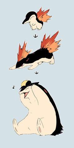 """せたさんのツイート: """"ヒノアラシ顔のバクフーンが好き… """""""