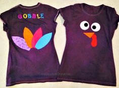 DIY Turkey Shirt Tutorial: Perfect for Kids and Adults (and Half Marathons too) - Coupons Are Great Thanksgiving Diy, Thanksgiving Activities, Thanksgiving Costume, Turkey Costume, Festival Shirts, Races Outfit, Shirt Tutorial, Daisy, Running Costumes