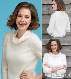 Хомякоз-свитер белый мохер реглан свитер женский