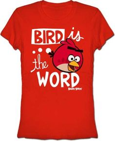 Angry Birds Bird Is The Word Juniors Red Tee « Shirt Add