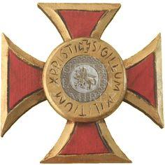 Medieval : Cruz de los Templarios s/e   Talla artesanal en madera de pino de cruz de los templarios sin espada.