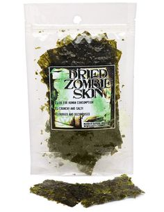 ✿ Edible Dried Zombie Skin ~ This is actually vegan, all natural, gluten free dried seaweed. Or so they say ~ Giggles ◡‿◡ ✿