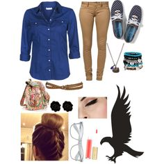 RavenClaw Outfit :) by alexandra-doucet on Polyvore