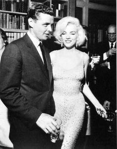 Marilyn's sparkly sheer dress from 1962 when she sang 'Happy Birthday Mr President' to JFK. It was one of Marilyn's last public performances and the dress was stunning!