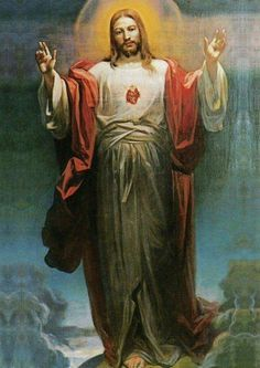 8 June – Blessed and Holy Solemnity of the Most Sacred Heart of Jesus – (Friday after the Second Sunday after Pentecost) and The World Day of Prayer for the Sanctification of Priests. Jesus Our Savior, Heart Of Jesus, Jesus Is Lord, Catholic Religion, Catholic Art, Religious Art, Jesus Christ Images, Pictures Of Christ, Christian Images