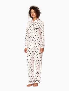 shadow dot pastry pink pj set | Kate Spade New York